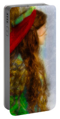 Woman In Medieval Gown Portable Battery Charger