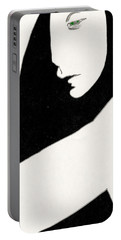 Woman In Shadows Portable Battery Charger
