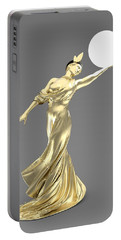 Woman Lamp Modernist Style Portable Battery Charger