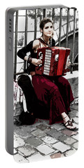 Woman Playing Accordion Portable Battery Charger