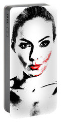 Woman Portrait In Art Look Portable Battery Charger