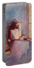 Woman Reading By Window Portable Battery Charger