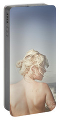 Portable Battery Charger featuring the photograph Woman Relaxing On The Beach by Jorgo Photography - Wall Art Gallery
