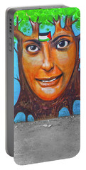 Portable Battery Charger featuring the photograph Woman Tree by Munir Alawi