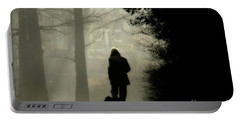 Portable Battery Charger featuring the photograph Woman Walking Dog by Patricia Hofmeester