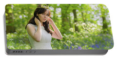 Woman Wearing Gold Crown Portable Battery Charger