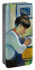 Woman Writing Portable Battery Charger
