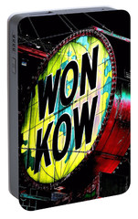 Portable Battery Charger featuring the photograph Won Kow, Wow 3 by Marianne Dow
