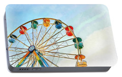 Portable Battery Charger featuring the painting Wonder Wheel by Edward Fielding