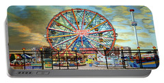 Wonder Wheel Image For Towel Portable Battery Charger