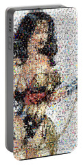 Wonder Woman Comics Mosaic Portable Battery Charger by Paul Van Scott
