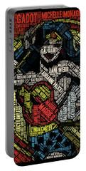 Wonder Woman Actress Mosaic Portable Battery Charger