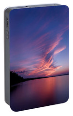 Portable Battery Charger featuring the photograph Wonderful Skeleton Lake Sunset by Darcy Michaelchuk