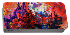 Wonderland - Colorful Abstract Art Painting Portable Battery Charger
