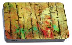 Portable Battery Charger featuring the digital art Wood Abstract by Deborah Benoit