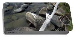 Wood And Rocks In Water Portable Battery Charger