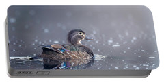 Portable Battery Charger featuring the photograph Wood Duck Hen by Bill Wakeley