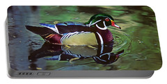 Portable Battery Charger featuring the photograph Wood Duck by Marie Hicks