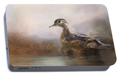 Portable Battery Charger featuring the photograph Wood Duck by Robin-Lee Vieira