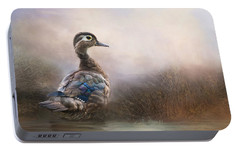 Portable Battery Charger featuring the photograph Wood Duck Too by Robin-Lee Vieira