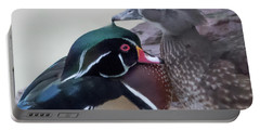 Wood Ducks Preening Portable Battery Charger