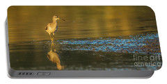 Wood Sandpiper At Sunset Portable Battery Charger by Jivko Nakev