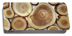 Wood Slices- Art By Linda Woods Portable Battery Charger by Linda Woods