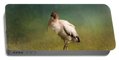 Wood Stork - Balancing Portable Battery Charger by Kim Hojnacki