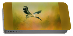 Wood Stork Encounter Portable Battery Charger by Marvin Spates