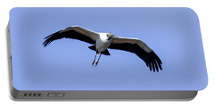 Wood Stork Portable Battery Charger by Gary Wightman