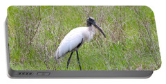 Wood Stork In The Marsh Portable Battery Charger