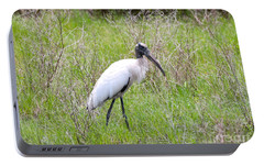 Wood Stork In The Marsh Portable Battery Charger by Carol Groenen