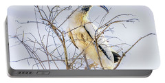 Wood Stork Sitting In A Tree Portable Battery Charger