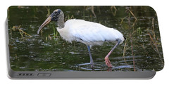 Wood Stork Through The Marsh Portable Battery Charger by Carol Groenen