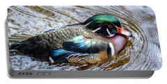 Woodduck Portrait Portable Battery Charger