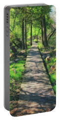 Wooded Path - Spring At Retzer Nature Center Portable Battery Charger by Jennifer Rondinelli Reilly - Fine Art Photography