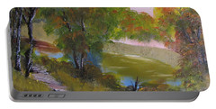 Wooded Scene Portable Battery Charger