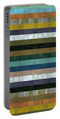 Wooden Abstract Xl Portable Battery Charger by Michelle Calkins