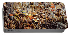 Wooden African Carvings Portable Battery Charger