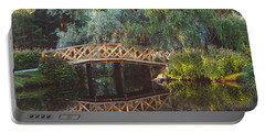 Portable Battery Charger featuring the photograph Wooden Bridge by Ari Salmela