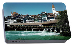 Portable Battery Charger featuring the photograph Wooden Bridge by Mimulux patricia no No