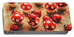 Wooden Bugs And Plastic Toadstools Portable Battery Charger