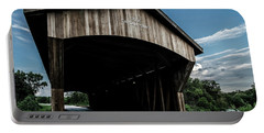 Wooden Covered Bridge In Rural Illinois Portable Battery Charger