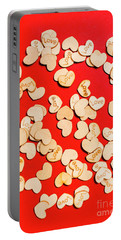 Wooden Notes Of Red Sentiment Portable Battery Charger