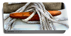 Wooden Sailboat Cleat One Portable Battery Charger
