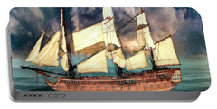 Wooden Ship Portable Battery Charger by Michael Cleere