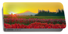 Wooden Shoe Tulip Fields Sunrise Portable Battery Charger