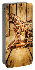Wooden Trojan Horse Portable Battery Charger