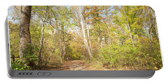 Woodland Path, Autumn, Montgomery County, Pennsylvania Portable Battery Charger