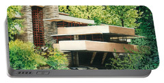 Fallingwater-a Woodland Retreat By Frank Lloyd Wright Portable Battery Charger by Barbara Jewell